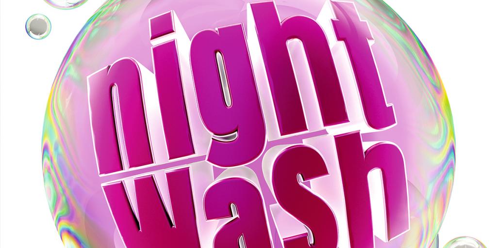 Night Wash Logo in lila und rosa