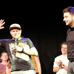 Drei Poetry Slammer und ein Moderator
